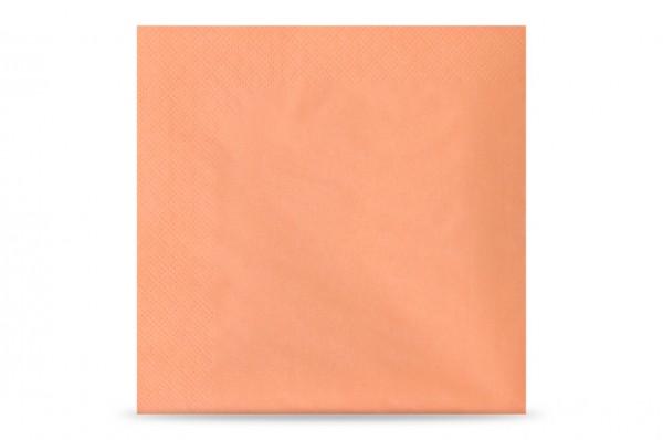 Hypafol farbige Servietten, 33 x 33 cm, 3-lagig, apricot