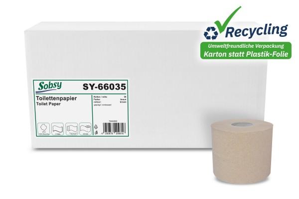 Sobsy Toilettenpapier 2-lagig, Recycling, 400 Blatt/Rolle
