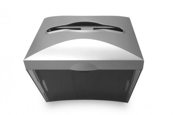 Servietten-Tischspender schwarz/grau, Kunststoff, 1 Stück