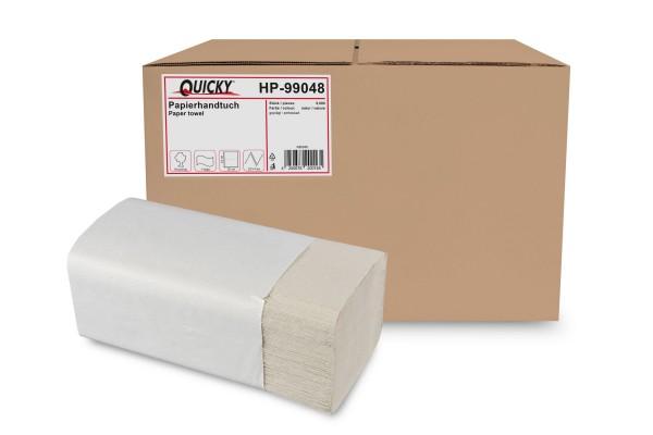 Quicky Papierhandtücher 1-lagig, ZZ/V-Falz, Recycling, 5.000 Stk.