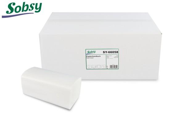 Papierhandtücher, 2-lg., 21 x 21 cm, V-Falz, hochweiß, Zellstoff