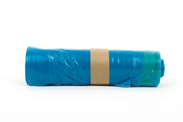 "Funny Zugbandsäcke, blau, 120 Liter, 250 Stück, LDPE-Reg. ""extra"""