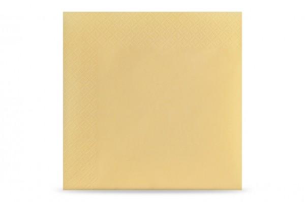 Hypafol farbige Servietten, 33 x 33 cm, 3-lagig, creme
