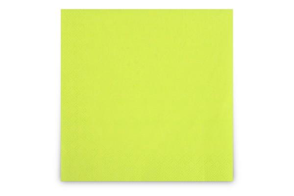 Hypafol farbige Servietten, 40 x 40 cm, 3-lagig, kiwi