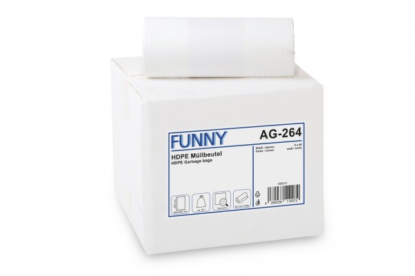"Funny Müllbeutel, weiß, 90 Liter, 360 Stück ""extra"""