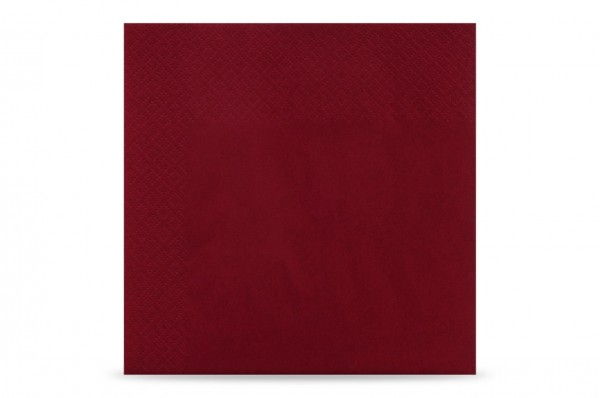 Hypafol farbige Servietten, 33 x 33 cm, 3-lagig, bordeaux