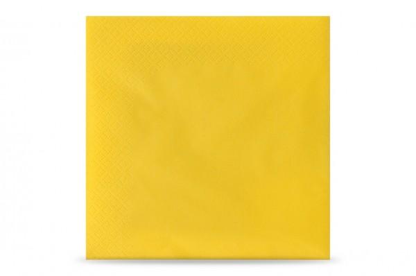Hypafol farbige Servietten, 33 x 33 cm, 3-lagig, gelb