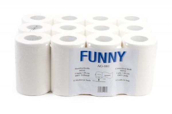 Funny Handtuchrollen, 1-lg, 20cm, Ø13cm, Innenabwicklung, hochweiß, Zellstoff, 12 Rollen