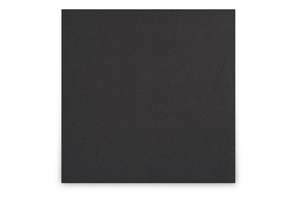Hypafol farbige Servietten, 40 x 40 cm, 3-lagig, schwarz