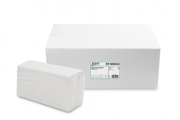 Papierhandtuch 2-lagig C-Falz, Zellstoffmix, weiß, 2.880 Stk.