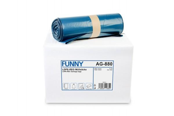 "Funny Müllsäcke, blau, 70 Liter, 200 Stück, LDPE-Reg. ""extra"""