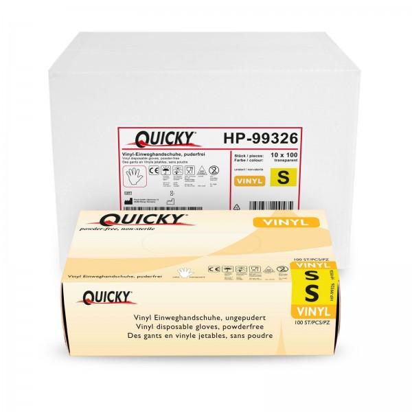 Quicky Vinyl Einweghandschuhe S, puderfrei, 1000 Stk
