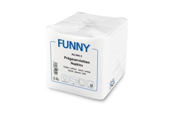 Funny Prägeserviette, hochweiß, 1-lagig, 5.000 Stück