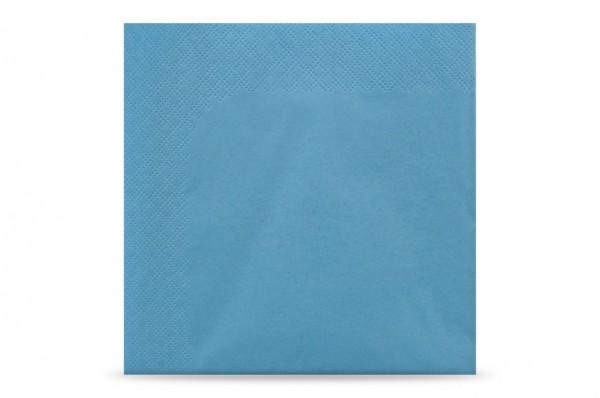 Hypafol farbige Servietten, 33 x 33 cm, 3-lagig, hellblau