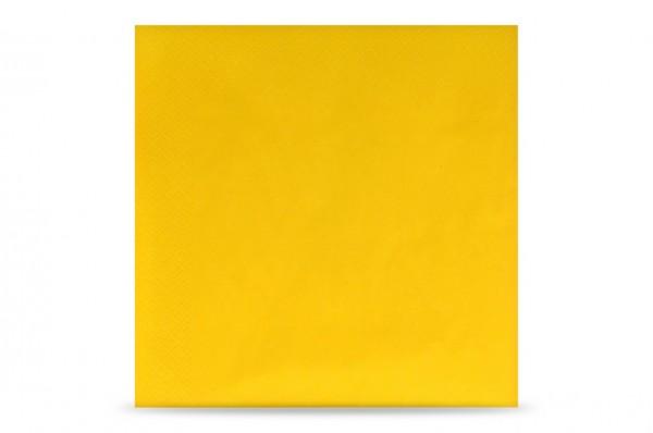 Hypafol farbige Servietten, 40 x 40 cm, 3-lagig, gelb