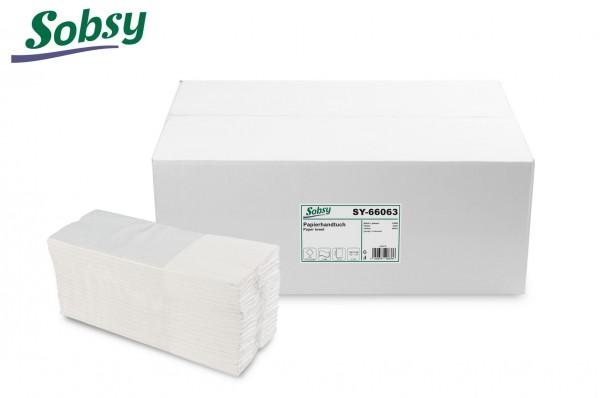Papierhandtücher, 2-lg., 25 x 33 cm, C-Falz, rec. weiß