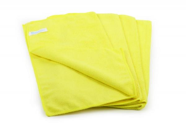 SemyTop Mikrofasertücher, gelb, 40x40cm, 20 Stück, 80% Polyester, 20% Polyamid, waschbar