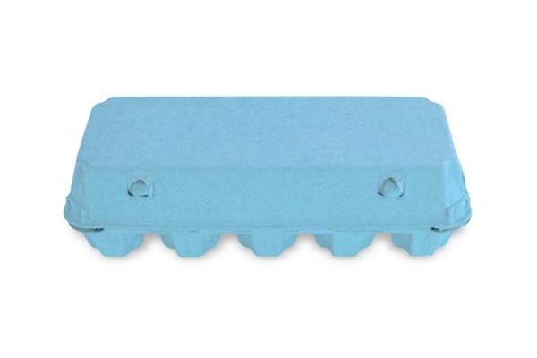 10er Eierschachteln, hellblau, unbedruckt - 154 Stück/VE