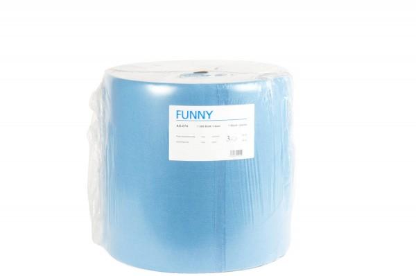 Funny Industrierolle, 3-lg., Ø 38 cm, 36x34 cm, Zellstoff, blau