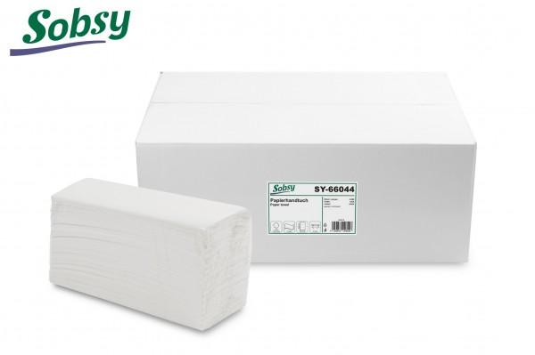Papierhandtücher, 2-lg., 22,5 x 30,5 cm, C-Falz, rec. weiß