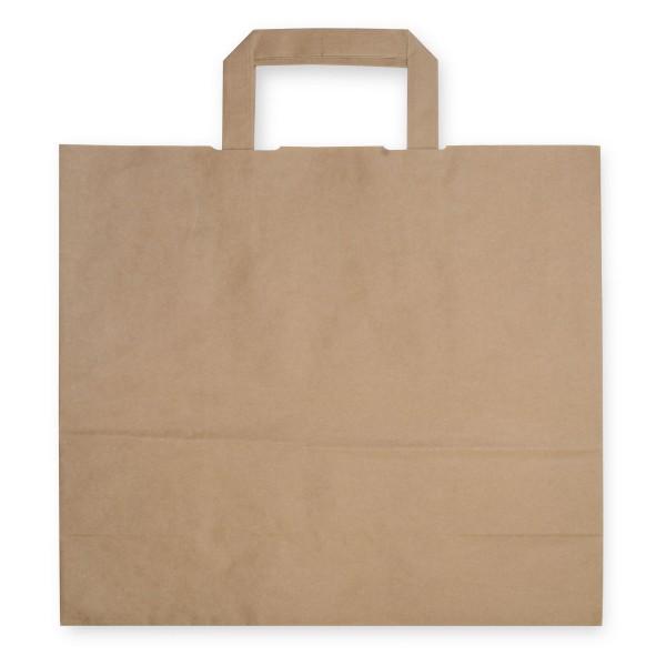 Papiertragetaschen mit Henkeln | 320x200x280mm | braun | stabile Ausführung | 80 g/qm | Kraftpapier