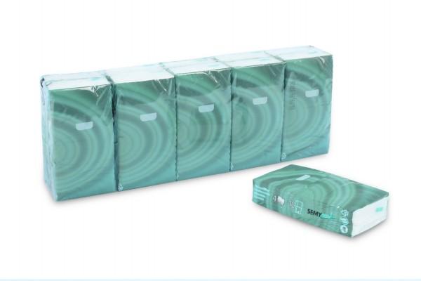 SemyCare Taschentücher, 4-lagig, hochweiß, Zellstoffpapier, extra soft, 3.000 Stk.