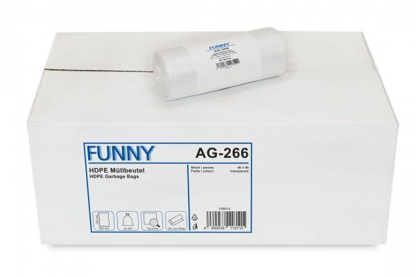 "Funny Müllbeutel, transparent, 60 Liter, 2.000 Stück ""extra"""