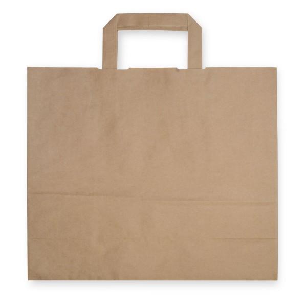 Papiertragetaschen mit Henkeln | 320x170x270mm | braun | stabile Ausführung | 80 g/qm | Kraftpapier