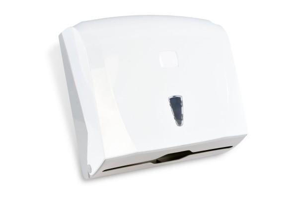 SemyTop Papierhandtuch-Spender, weiß, Kunststoff, für ca. 200 Blatt