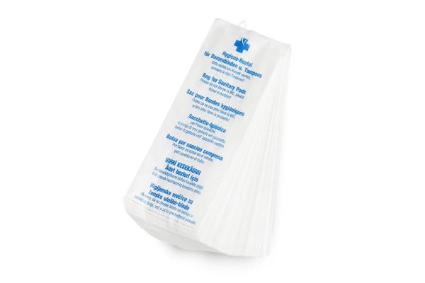 Funny Papier Hygienebeutel, 7-sprachig bedruckt, 1.000 Stück, gefädelt