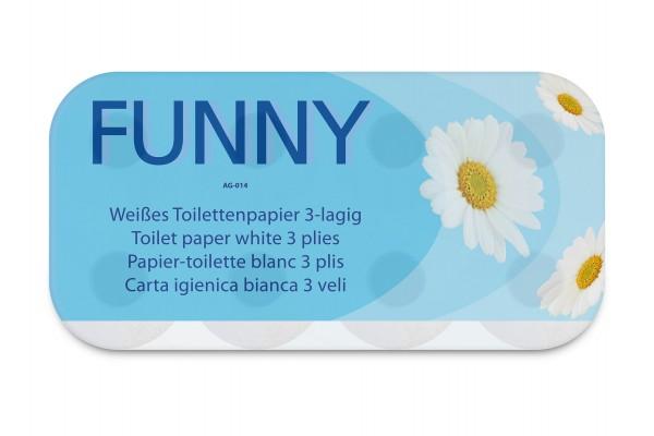 Funny Toilettenpapier AG-014, 250 Blatt, 3-Lagig, 100% reiner Zellstoff