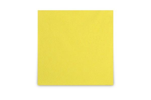 Hypafol farbige Cocktailserviette, 24 x 24 cm, gelb