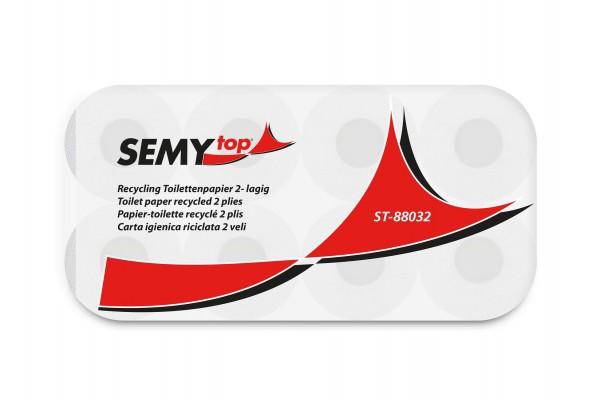 SemyTop Toilettenpapier, recycling, grau, 2-lagig, 250 Blatt/Rolle
