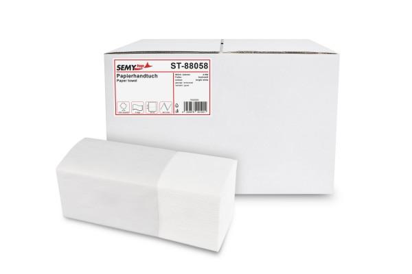 SemyTop Papierhandtuch 2-lagig ZZ/V-Falz, Zellstoff, hochweiß, 4.000 Stk.