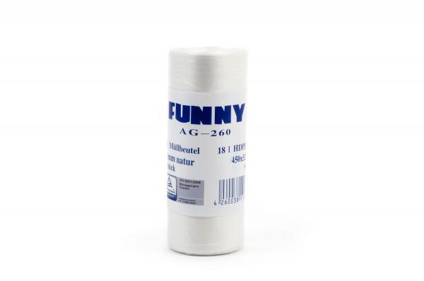 Funny Müllbeutel, transparent, 18 Liter, 2.000 Stück