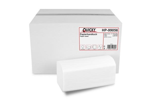 Papierhandtuch 2-lagig ZZ/V-Falz, Zellstoff, hochweiß, 3.000 Stk.