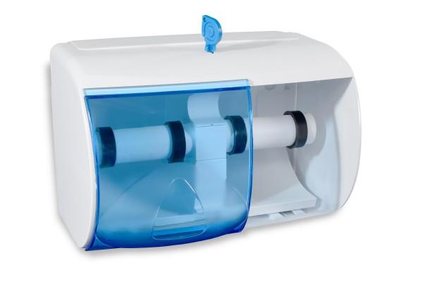 Funny Toilettenpapier-Spender für 2 Rollen, weiß-transparent