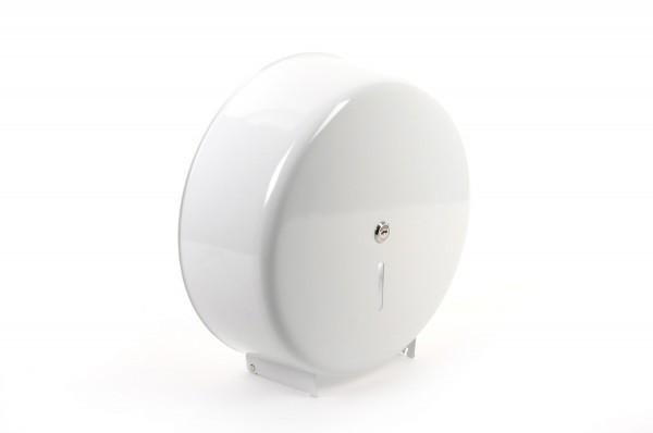 SemyTop Jumbo Toilettenpapier-Spender, weiß, bis 32 cm Durchmesser