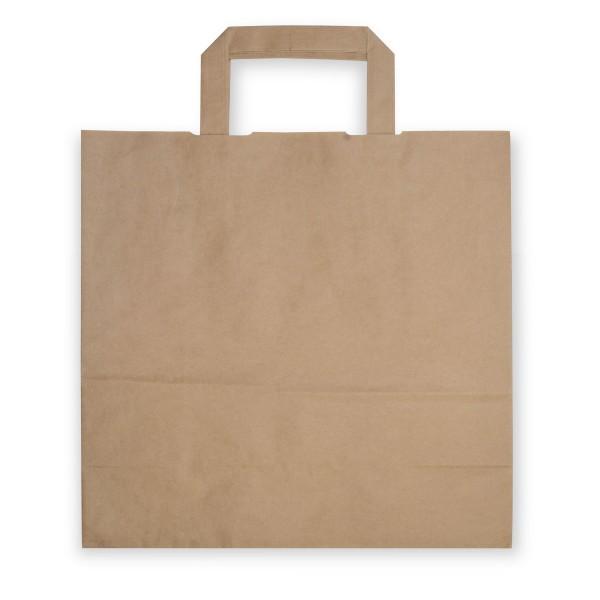 Papiertragetaschen mit Henkeln | 280x170x270mm | braun | stabile Ausführung | 80 g/qm | Kraftpapier