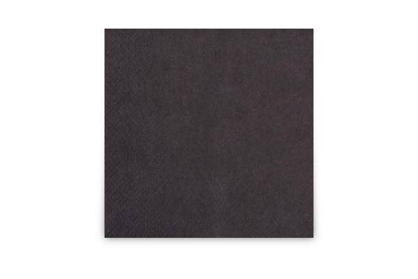 Hypafol farbige Cocktailserviette, 24 x 24 cm, schwarz