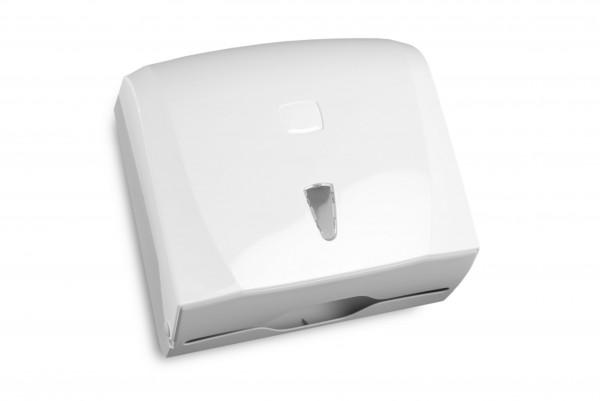 SemyTop Papierhandtuch-Spender, weiß, Kunststoff, für ca. 300 Blatt