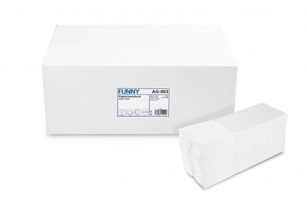 Funny Papierhandtuch 2-lagig C-Falz, Zellstoffmix, weiß, 2.880 Stk.