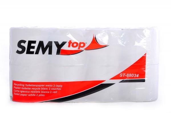 SemyTop 100% Recycling Toilettenpapier, 2-lagig, geprägt