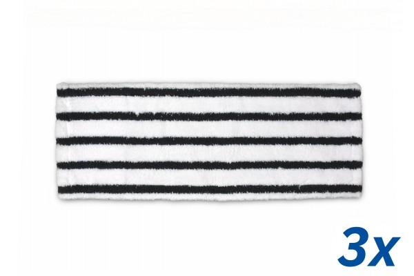 3x Mikrofaser Wischmopp mit Borsten, 50cm