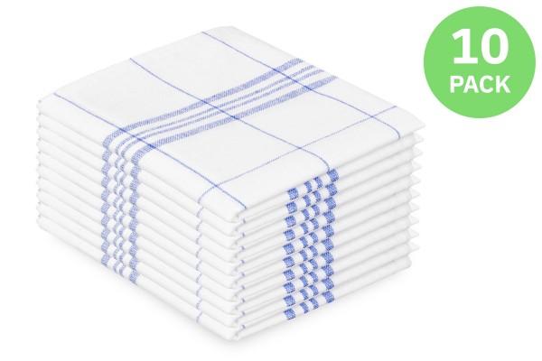 SemyTop Geschirrtuch blau, 100% Baumwolle, 50 x 70 cm, 10 Stück