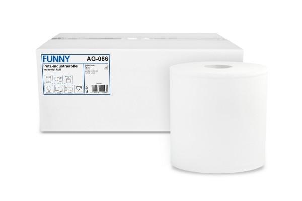 Funny Industrierolle, 3-lg., Ø 27 cm, 26x33 cm, Zellstoff, weiß, im Karton