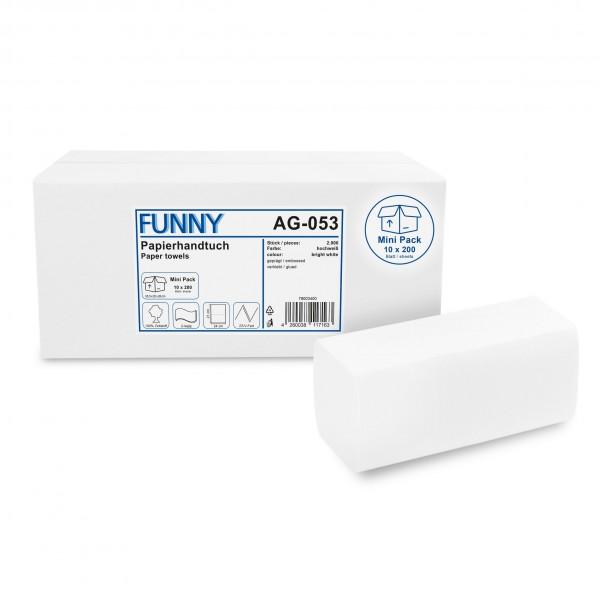 Papierhandtücher 2-lagig, ZZ/V, 24 x 21 cm, hochweiß, 2.000 Stück im Mini Pack