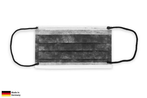 SemyCare Mund- und Nasenbedeckung, schwarz, 3-lagig, 100 Stück