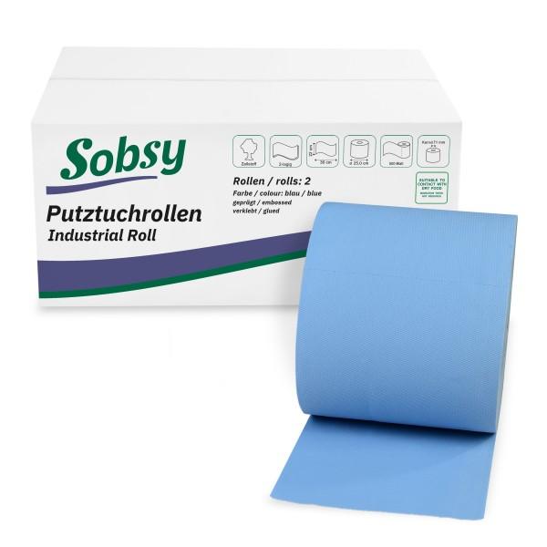 Putztuchrollen, Wiper, Putzpapier, Putztuch, Industriepapier, Handtuchpapierrollen, Putztuchrollen, Papierhandtuchrollen, Sobsy SY-66076-22-5 im Karton