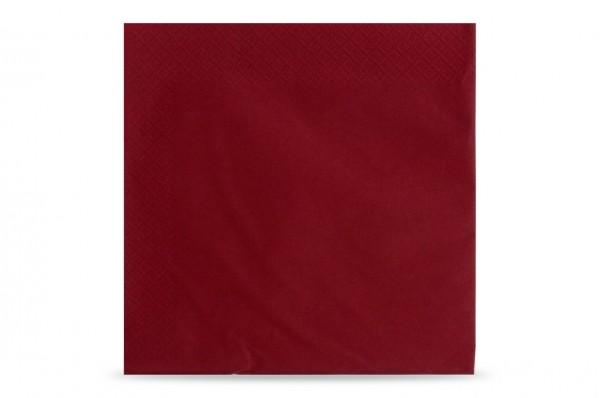 Hypafol farbige Servietten, 40 x 40 cm, 3-lagig, bordeaux